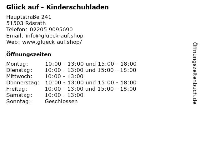 Glück auf - Kinderschuhladen in Rösrath: Adresse und Öffnungszeiten