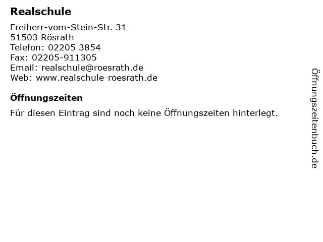 Realschule in Rösrath: Adresse und Öffnungszeiten