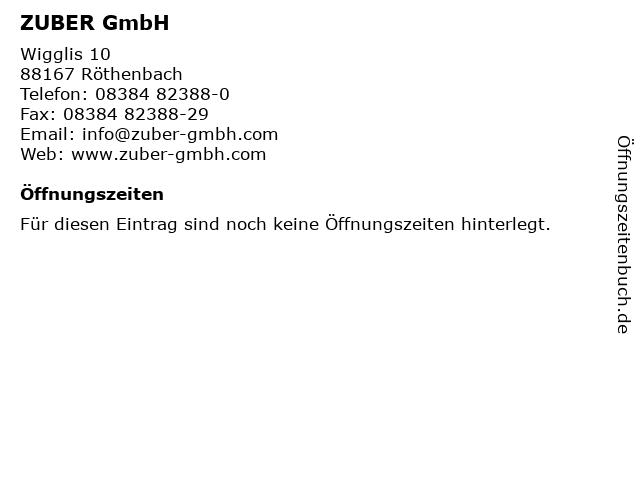 ZUBER GmbH in Röthenbach: Adresse und Öffnungszeiten