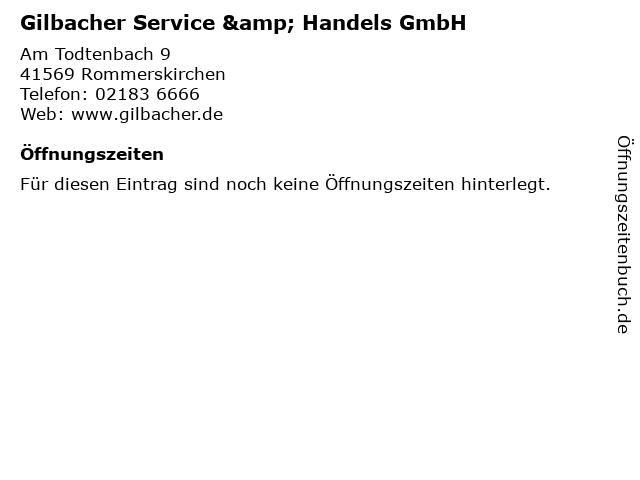 Gilbacher Service & Handels GmbH in Rommerskirchen: Adresse und Öffnungszeiten