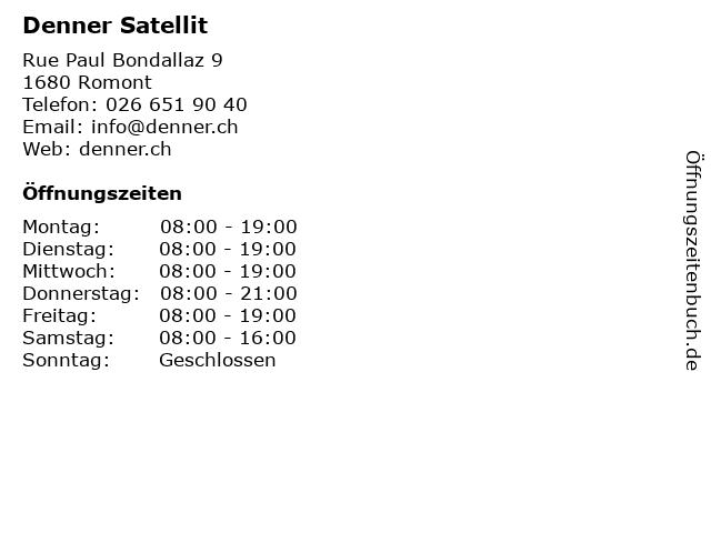 Denner Satellit in Romont: Adresse und Öffnungszeiten