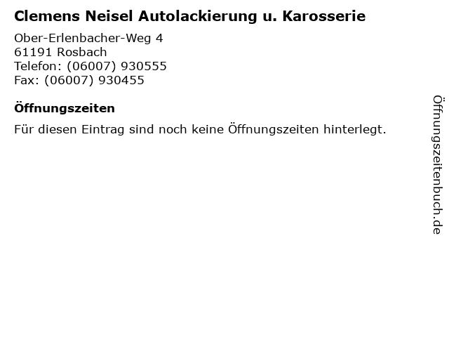 Clemens Neisel Autolackierung u. Karosserie in Rosbach: Adresse und Öffnungszeiten
