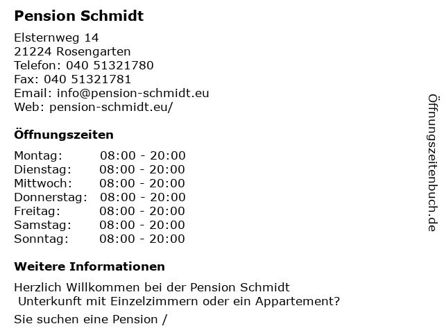 Pension Schmidt in Rosengarten: Adresse und Öffnungszeiten
