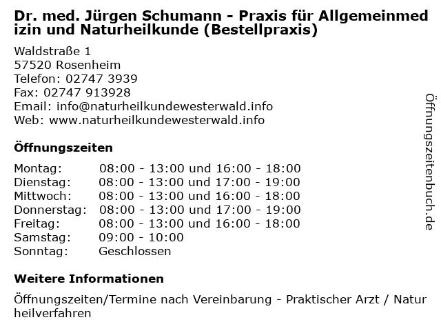 Dr Schumann Rosenheim