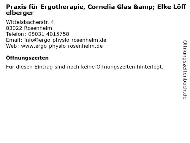 Praxis für Ergotherapie, Cornelia Glas & Elke Löffelberger in Rosenheim: Adresse und Öffnungszeiten