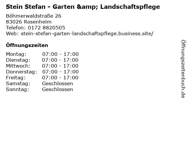 Stein Stefan - Garten & Landschaftspflege in Rosenheim: Adresse und Öffnungszeiten