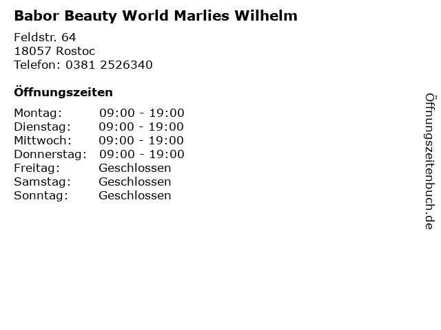 Babor Beauty World Marlies Wilhelm in Rostoc: Adresse und Öffnungszeiten