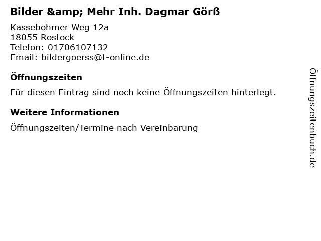 Bilder & Mehr Inh. Dagmar Görß in Rostock: Adresse und Öffnungszeiten