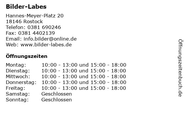 Bilder-Labes in Rostock: Adresse und Öffnungszeiten