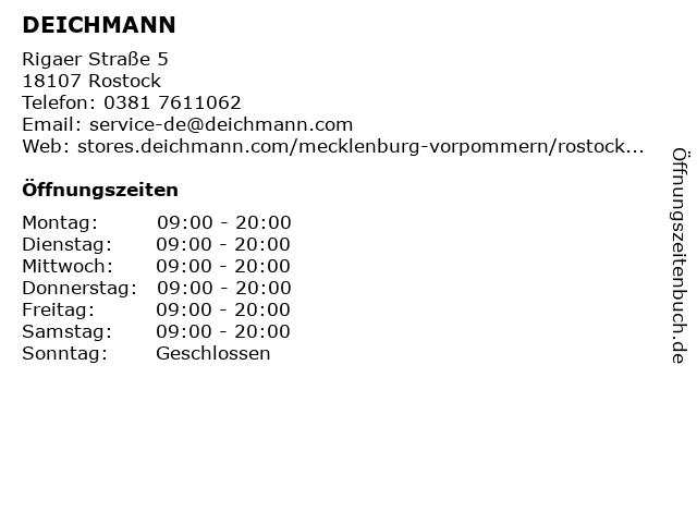 DEICHMANN Schuhe in Rostock: Adresse und Öffnungszeiten
