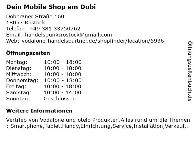 Dein Mobile Shop am Dobi in Rostock: Adresse und Öffnungszeiten