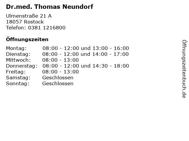 Dr. Neundorf Rostock