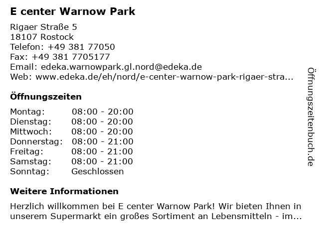 Marktkauf Rostock in Rostock: Adresse und Öffnungszeiten