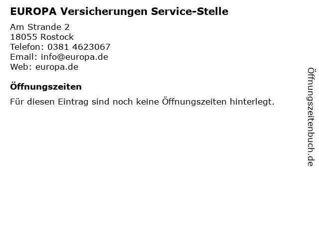 ᐅ Offnungszeiten Europa Versicherungen Service Stelle Am