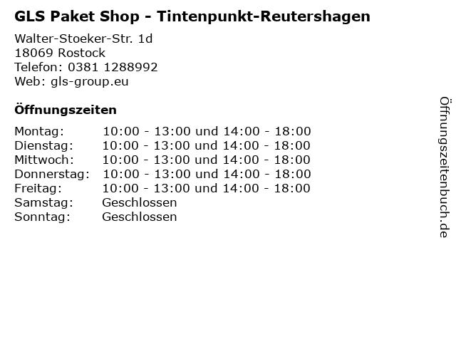 GLS Paket Shop - Tintenpunkt-Reutershagen in Rostock: Adresse und Öffnungszeiten