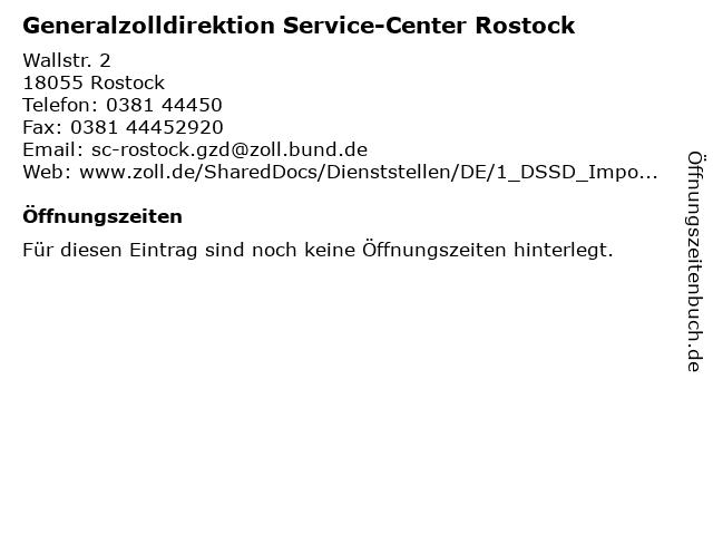 """ᐅ Öffnungszeiten """"Generalzolldirektion Service-Center"""
