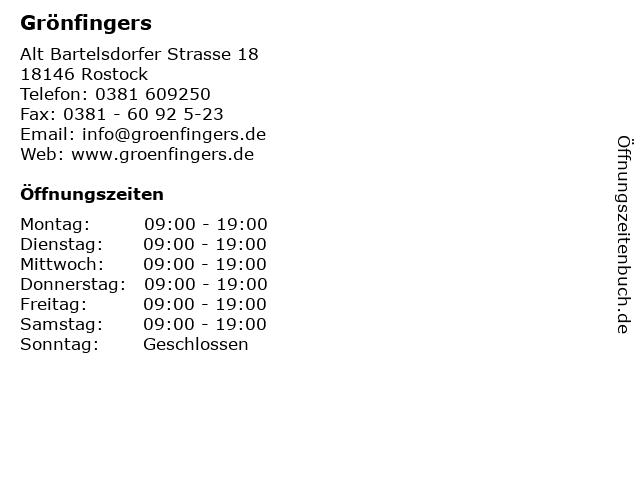 grönfingers rostock verkaufsoffener sonntag 2019