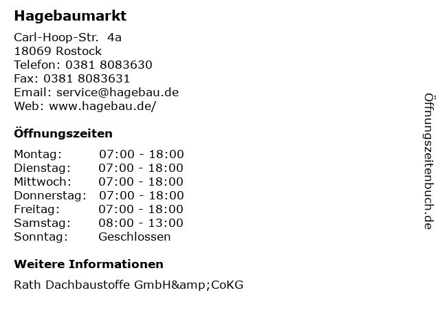 Hagebaumarkt in Rostock: Adresse und Öffnungszeiten