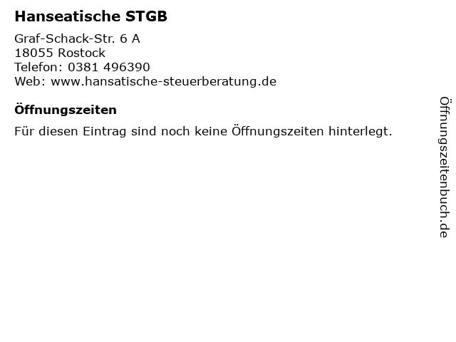 Hanseatische STGB in Rostock: Adresse und Öffnungszeiten