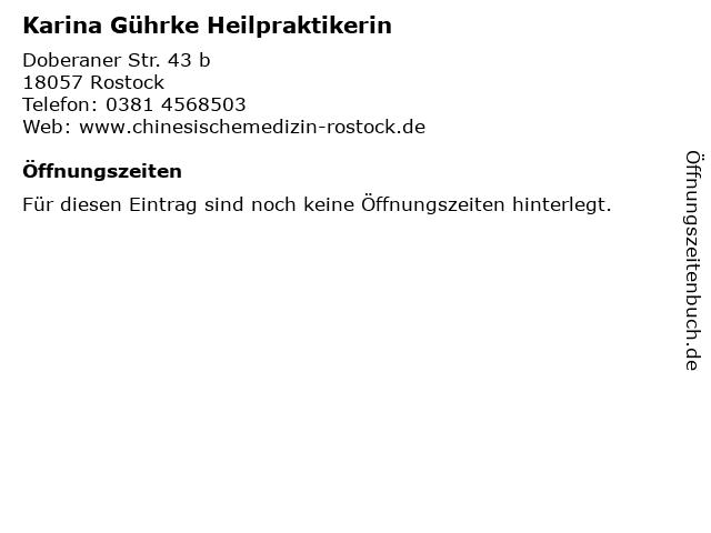 Karina Gührke Heilpraktikerin in Rostock: Adresse und Öffnungszeiten