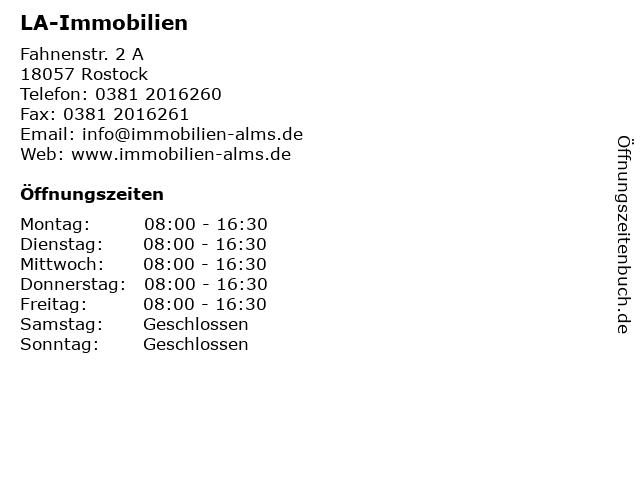 LA-Immobilien in Rostock: Adresse und Öffnungszeiten