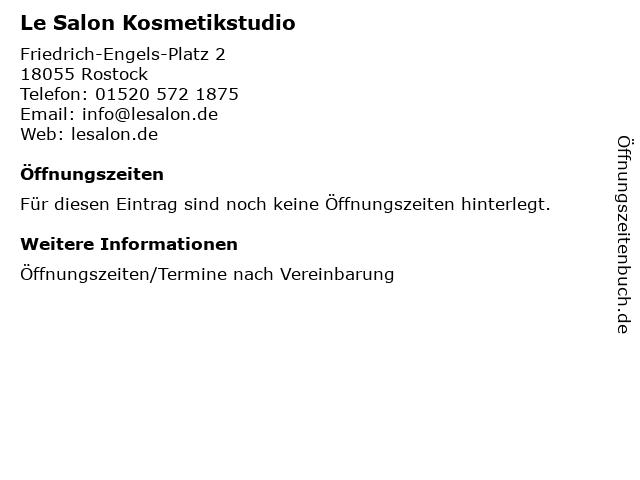 Le Salon Kosmetikstudio in Rostock: Adresse und Öffnungszeiten