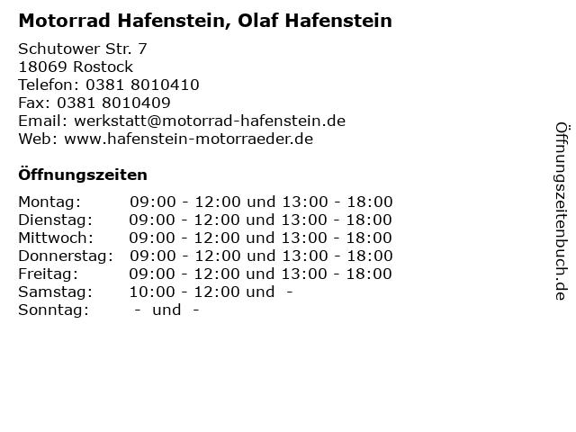 Motorrad Hafenstein, Olaf Hafenstein in Rostock: Adresse und Öffnungszeiten