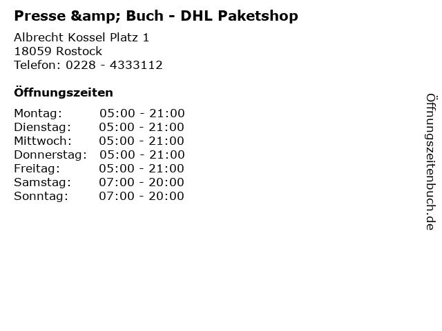Presse & Buch - DHL Paketshop in Rostock: Adresse und Öffnungszeiten