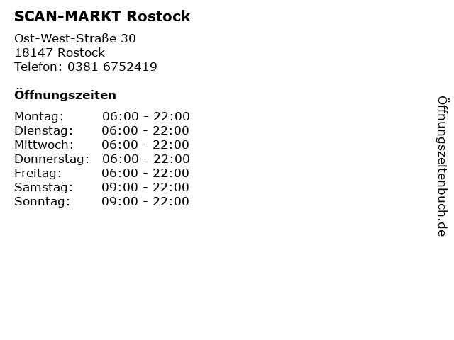 ᐅ öffnungszeiten Scan Markt Rostock Ost West Straße 30 In Rostock