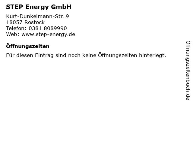STEP Energy GmbH in Rostock: Adresse und Öffnungszeiten