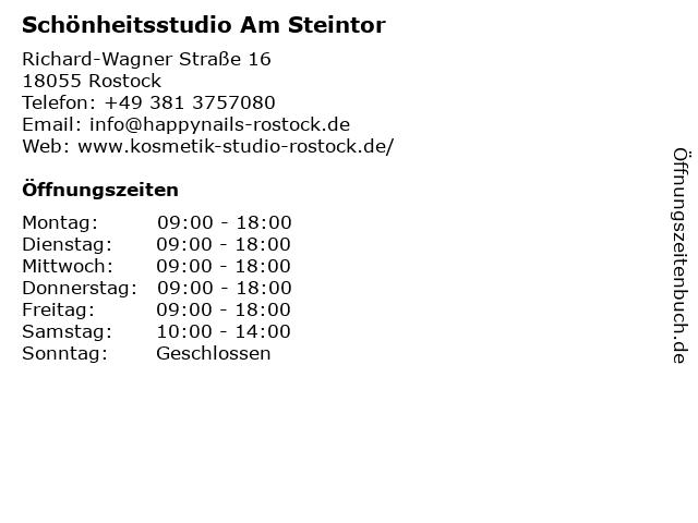 Schönheitsstudio Am Steintor in Rostock: Adresse und Öffnungszeiten