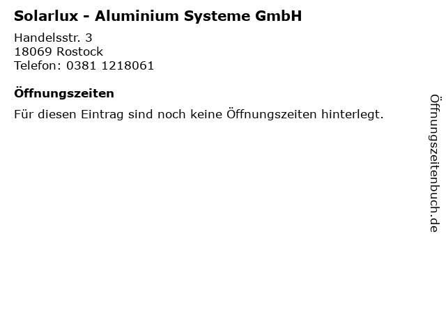 """ᐅ Öffnungszeiten """"Solarlux - Aluminium Systeme GmbH ..."""