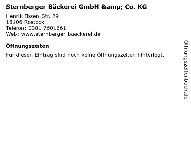 Sternberger Bäckerei GmbH & Co. KG in Rostock: Adresse und Öffnungszeiten