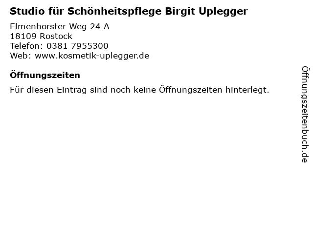 Studio für Schönheitspflege Birgit Uplegger in Rostock: Adresse und Öffnungszeiten