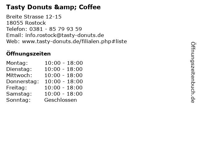 Tasty Donuts & Coffee in Rostock: Adresse und Öffnungszeiten