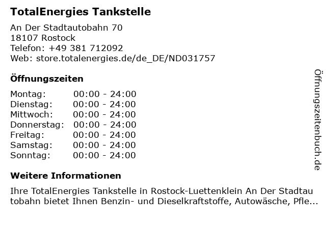 TotalEnergies Tankstelle in Rostock: Adresse und Öffnungszeiten