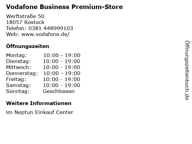 Vodafone Business Premium-Store in Rostock: Adresse und Öffnungszeiten