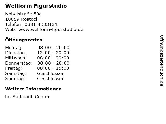 Wellform Figurstudio in Rostock: Adresse und Öffnungszeiten
