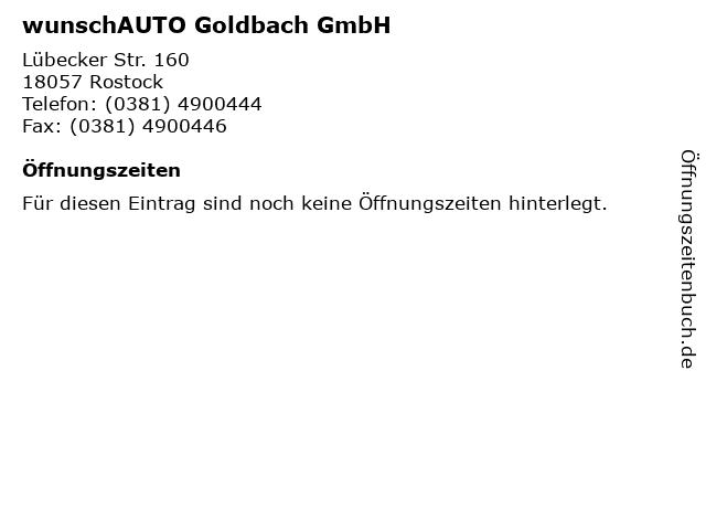 wunschAUTO Goldbach GmbH in Rostock: Adresse und Öffnungszeiten