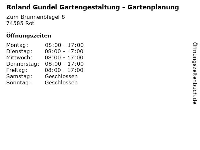 Roland Gundel Gartengestaltung - Gartenplanung in Rot: Adresse und Öffnungszeiten