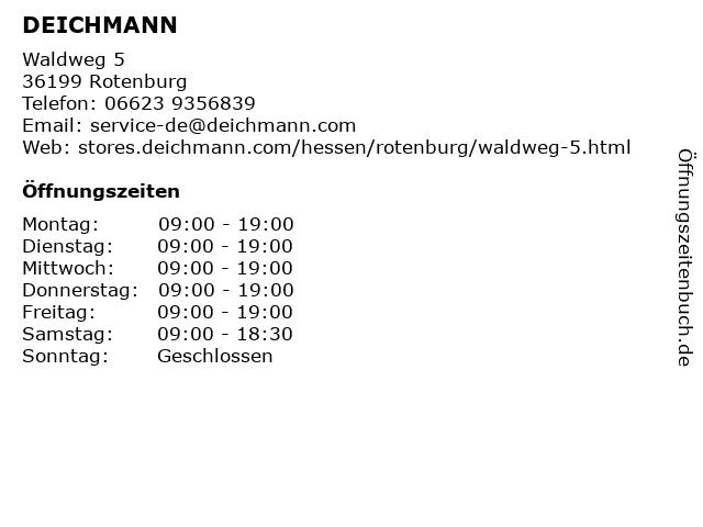 Deichmann Schuhe in Rotenburg (Fulda): Adresse und Öffnungszeiten