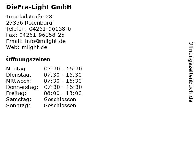 DieFra-Light GmbH in Rotenburg: Adresse und Öffnungszeiten