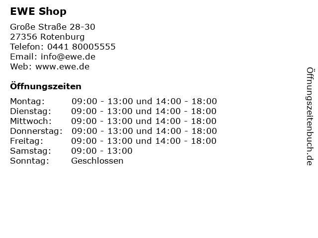 EWE ServicePunkt in Rotenburg: Adresse und Öffnungszeiten