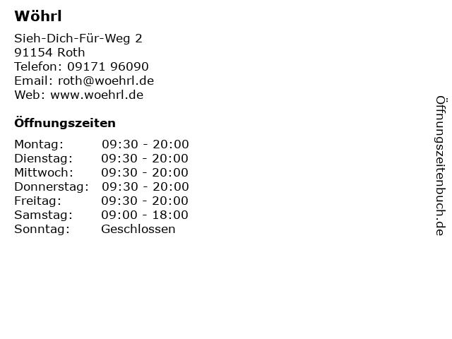 Wöhrl in Roth: Adresse und Öffnungszeiten