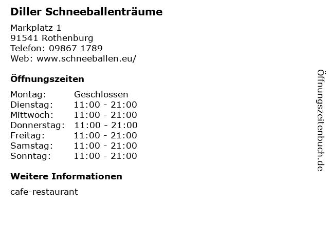 Diller Schneeballenträume in Rothenburg: Adresse und Öffnungszeiten