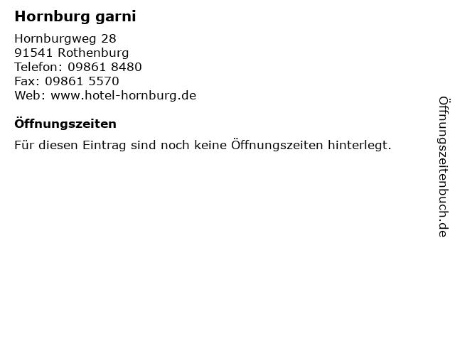 Hornburg garni in Rothenburg: Adresse und Öffnungszeiten