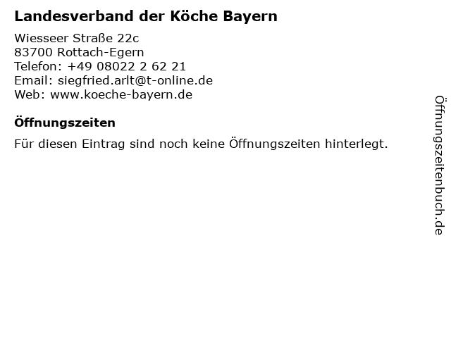 Landesverband der Köche Bayern in Rottach-Egern: Adresse und Öffnungszeiten