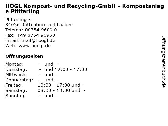 högl kompost regensburg preise