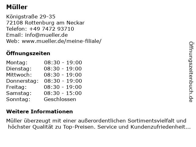 Müller in Rottenburg am Neckar: Adresse und Öffnungszeiten