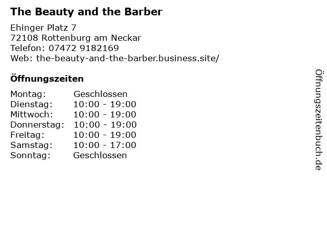 The Beauty and the Barber in Rottenburg am Neckar: Adresse und Öffnungszeiten
